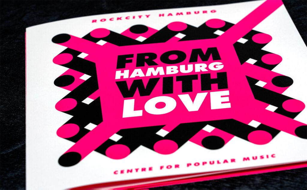 Made in Hamburg with Love. Rockcity Hamburg mit der Leuchtfarbe Pink