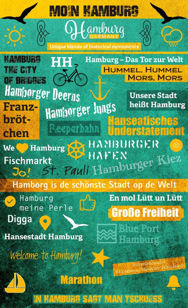 Unsere Stadt heißt Hamburg. Plakat Moin Hamburg