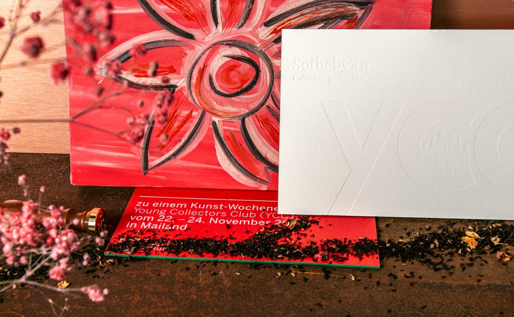 Kreatives Design einer Einladungskarte für Sotheby